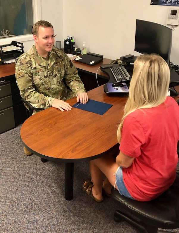 Tech. Sgt. Kyle Hauser, 351st Recruiting Squadron at Joint Base Charleston, South Carolina, met his fiscal 2020 accession goal in less than four months.