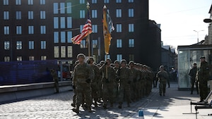 1st Cavalry Division takes part in the annual Estonian Defense Forces military parade