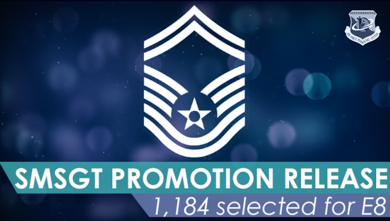 Blue graphic with Senior Master Sergeant stripes floating