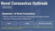 U.S. Army graphic for Novel Coronavirus focus area.