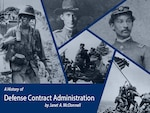 Graphic showing U.S. military service members from various eras, Revolutionary War, Civil War, World War Two and Vietnam.
