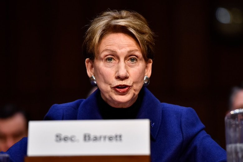 Air Force Secretary Barbara M. Barrett testifies on the posture of the Air Force before the Senate Armed Services Committee at the Hart Senate Office Building in Washington, D.C., March 3, 2020. (U.S. Air Force photo by Eric Dietrich)