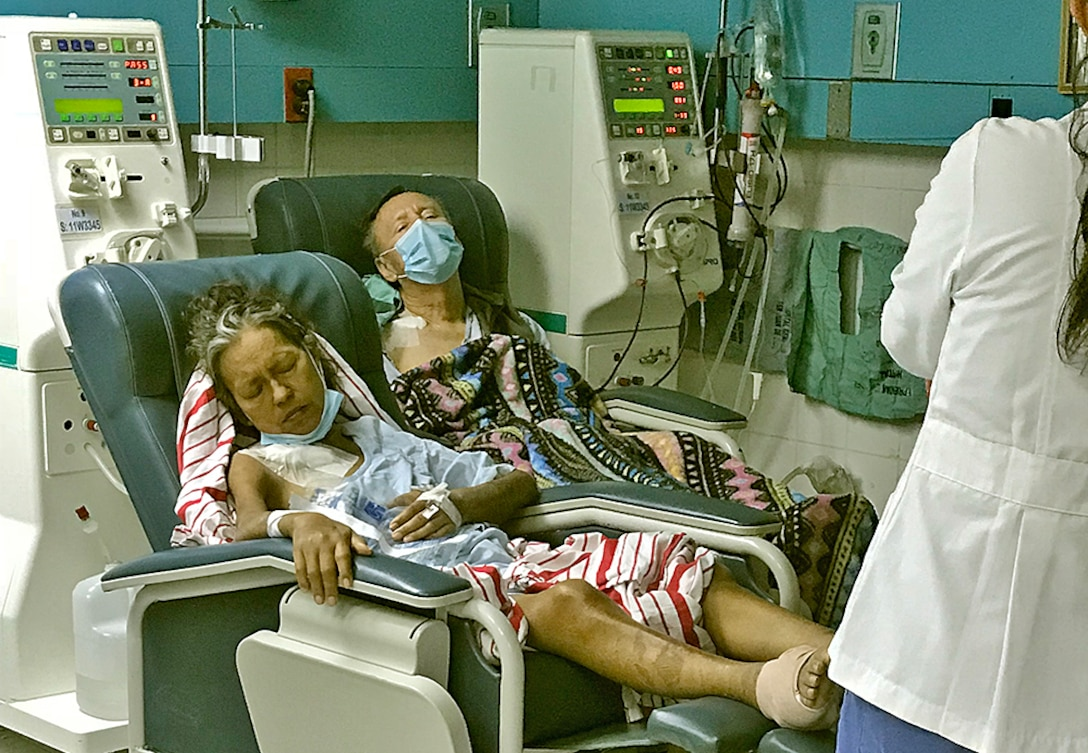 People received dialysis treatment.