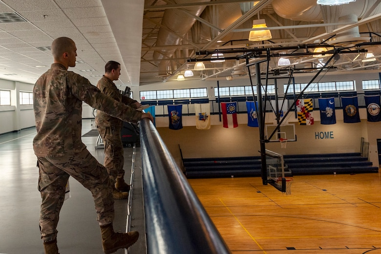 Photo of Airmen performing a head count