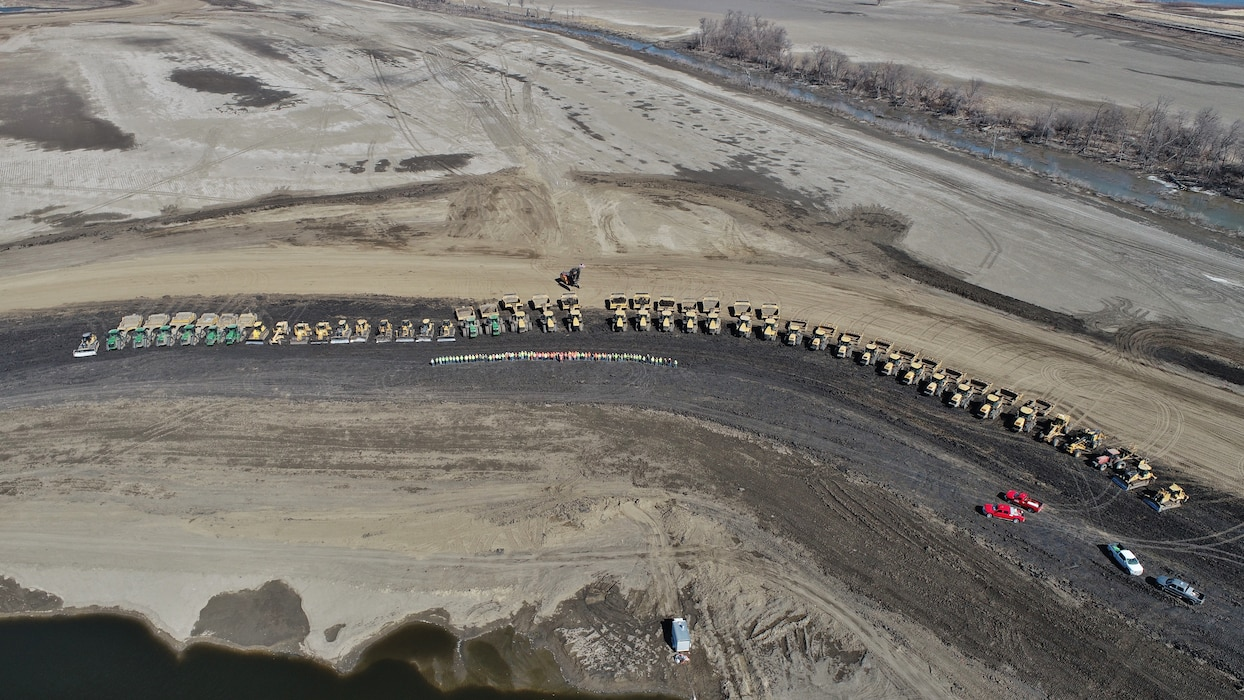 As of March 1, 2020, the entire L-594 levee system has been returned to full height. Continued repair activities will focus on restoring the levee system to its pre-flood condition.