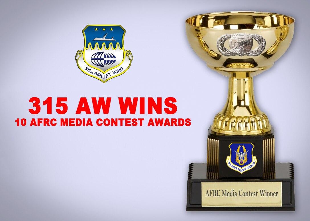 315 AW wins 10 AFRC media contest awards