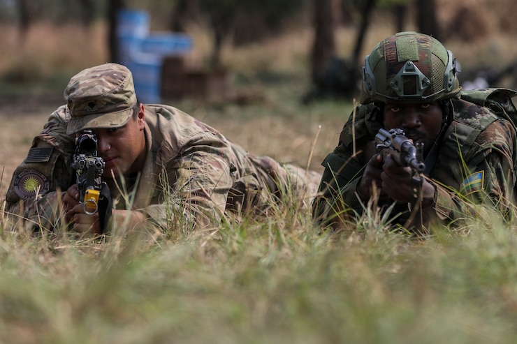 squad battle drills during Exercise Shared Accord 2019