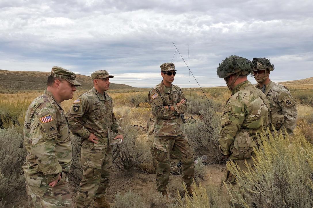 Radio operators gather in desert.