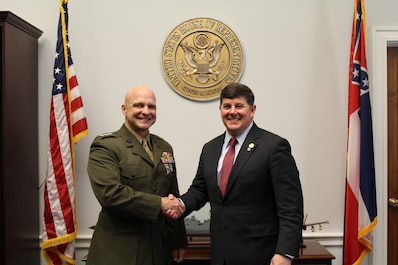 Marine Corps Forces Reserve Commander Meets With Congressman Steven Palazzo