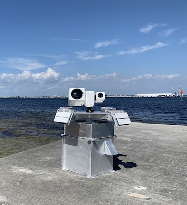 Threat Tracker is an expeditionary unmanned aerial systems (UAS) designed by Naval Surface Warfare Center Panama City Division personnel to autonomously detect, track, and classify UAS from a mobile patrol vessel. Threat Trackers will be on display at Sea Air Space Exposition April 6-8.