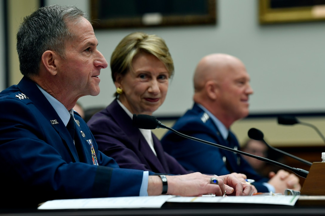 Air Force Chief of Staff Gen. David L. Goldfein testifies before the House Armed Services Committee in Washington, D.C., March 4, 2020. Goldfein talked about the fiscal year 2021 National Defense Authorization Budget request for the Department of the Air Force. (U.S. Air Force photo by Wayne Clark)