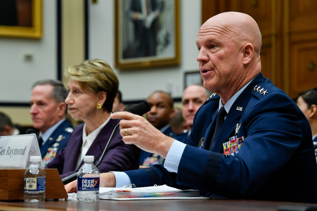 Chief of Space Operations Gen. John W. Raymond testifies before the House Armed Services Committee in Washington, D.C., March 4, 2020. (U.S. Air Force photo by Wayne Clark)