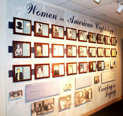 Women in American Cryptology Wall at the National Cryptologic Museum.