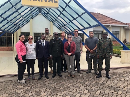 CJTF-HOA's 411th CA, RDF assess health practices at Rwandan border posts