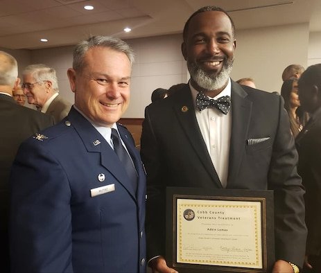 We recently had the honor of attending a Cobb County Veterans Treatment Court mentor program graduation ceremony. Many distinguished visitors were also in attendance, including Congressman Barry Loudermilk. (Courtesy photo)