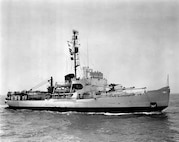 A scan of a photo of CGC EASTWIND underway at sea
