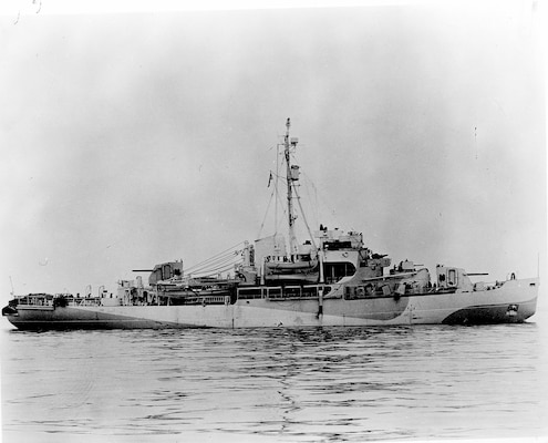 A scan of a photo of USCGC Eastwind