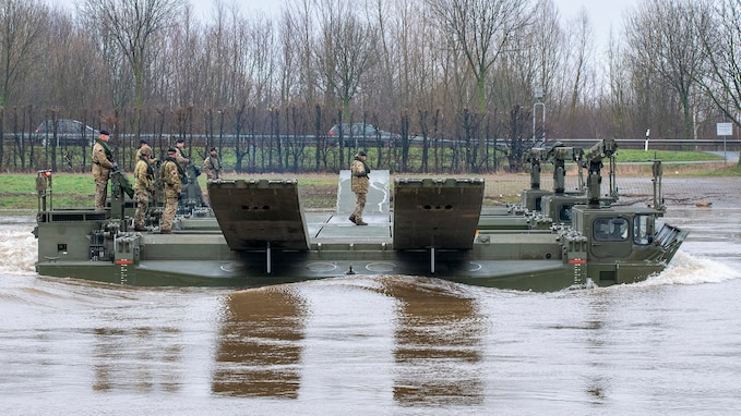 NATO troops rehearse river crossing drills ahead of DEFENDER-Europe 20