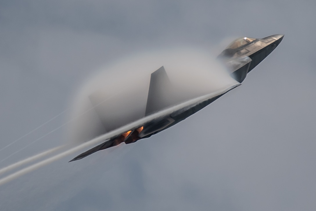 F-22 Demonstration Team pilot performs