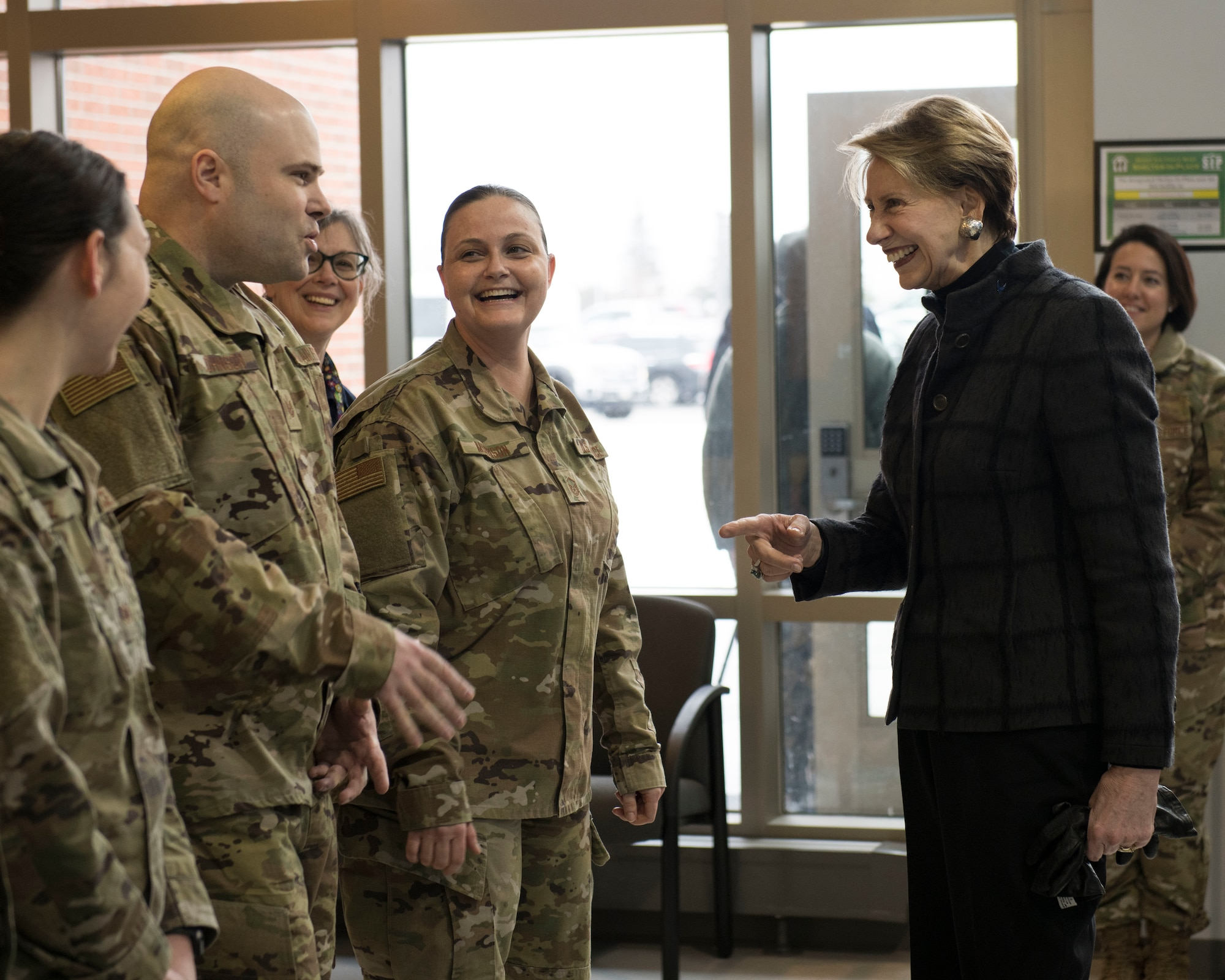 SecAF talks with Minot AFB Airmen