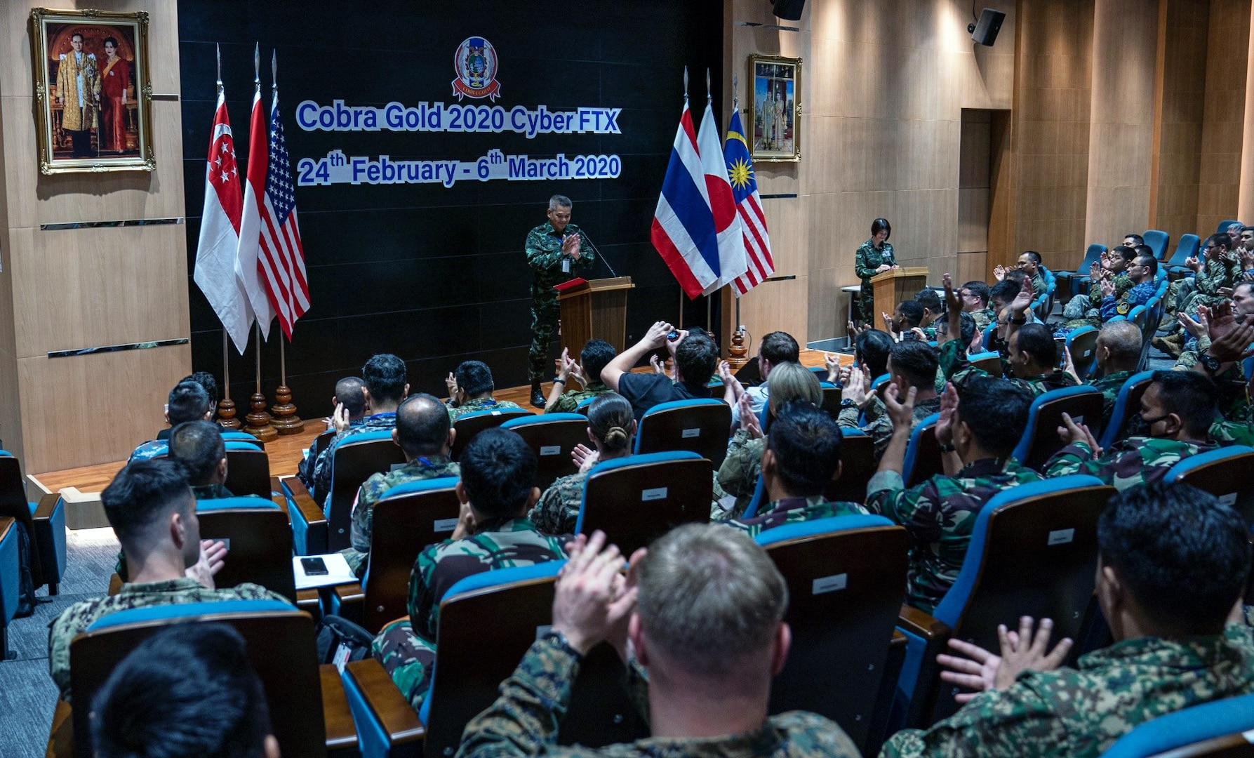 Cyber Operators Join Together during Cobra Gold 20