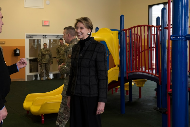 SecAF visits an indoor playground
