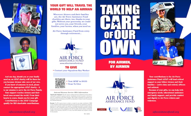 The 2020 Air Force Assistance Fund has begun and will run from  March 2-April 10.  