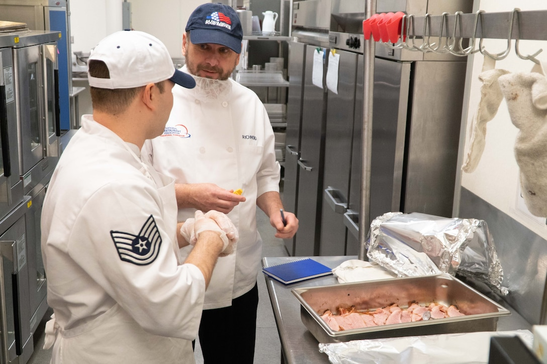 The 139th Service Flight evaluated for food service award