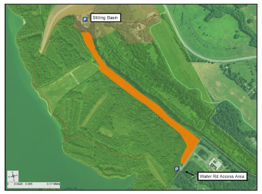 Blue Marsh Lake Ranger staff have announced tree marking and clearing will begin on Monday, Mar. 9, 2020 as part of construction of the water pipeline connecting the Western Berks Water Authority directly to Blue Marsh Lake. Access will be restricted to the unofficial trail that follows the western bank of the Tulpehocken Creek from the eastern edge of the Emergency Spillway to the Water Road Access Area as well as water access at this location.