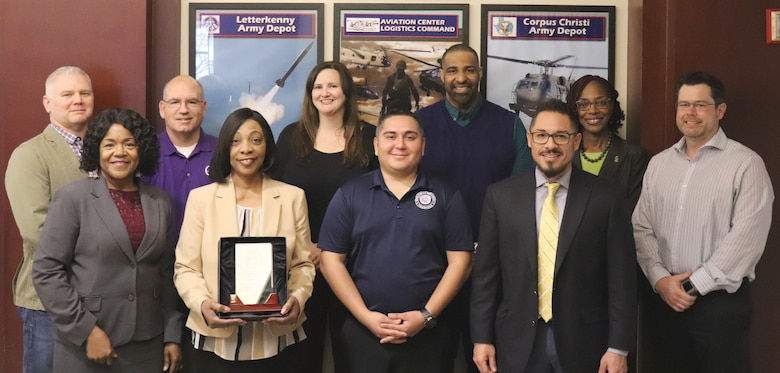 AMCOM's Antiterrorism team earned 'Best Large Unit' antiterrorism program in the Army award for FY19. The team consists of: (front row left to right) Alfreda Alexander, Josette Paschal, Joshua Velasquez, Ryan Picket, (back row left to right) Eric Nelson, Paul Quintel, Beth Ward, Marc Lacy, Claudinette Purifoy-Fears, Wes Slone and (not pictured) John Kilgore.