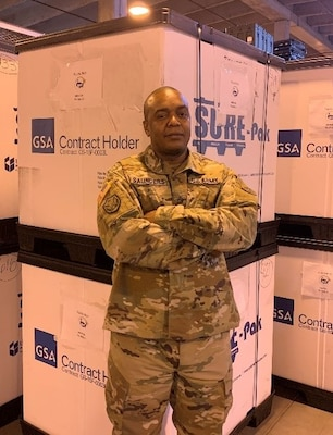 """This program is amazing and it feels good to do my part knowing that key medical services are being provided to underserved communities throughout the United States and its territories. There are co-workers and there is family, I've had the privilege of working with both here at the IRT Medical Consumables Site,"" said Staff Sgt. Coddington Saunders."