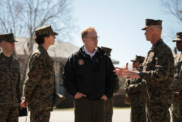 The Honorable Mr. Thomas B. Modly, Secretary of the Navy (Acting), visited Parris Island, S.C. March 6, 2020. Modly visited Parris Island to enhance his understanding of the environment and facilities aboard the depot as an installation in addition to viewing how the U.S. Marine Corps conducts entry-level training.