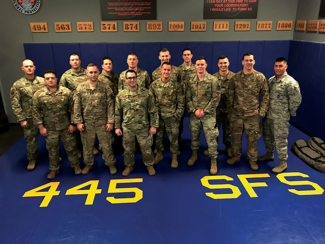 Sixteen Reservists assigned to the 445th Security Forces Squadron learned advanced combat, firing and driving tactics from Navy SEALs at Melrose Air Force Range, New Mexico.