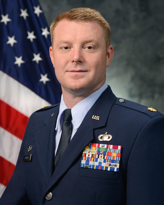 Maj. Justin Gabbard, 50th Comptroller Squadron commander bio photo