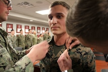 Lance Cpl. McGee's promotion to a Cpl. of Marines