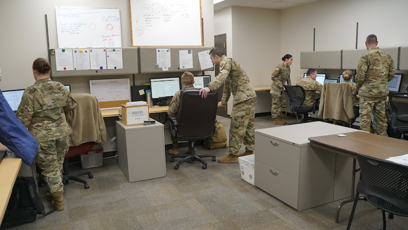 The human resources personnel at Draper, Utah, surrounding armories get trained on the new Integrated Personnel and Pay System – Army system processes, Feb. 2, 2020. IPPS-A boasts a 98 percent accuracy rate on more than 26 different pay transactions (U.S. Army photo by Sgt. 1st Class Nichole Bonham)