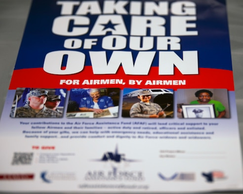 Photo of an Air Force Assistance Fund flyer