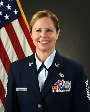Chief Master Sgt. Jennifer Aurora, of Bloomington, Illinois.