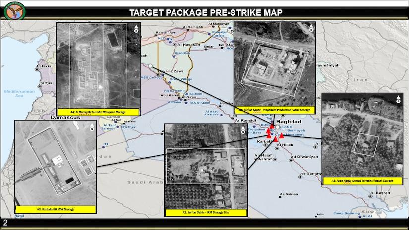 Taji Response, Defensive Strikes on Kata'ib Hizbollah. Target package pre-strike map.