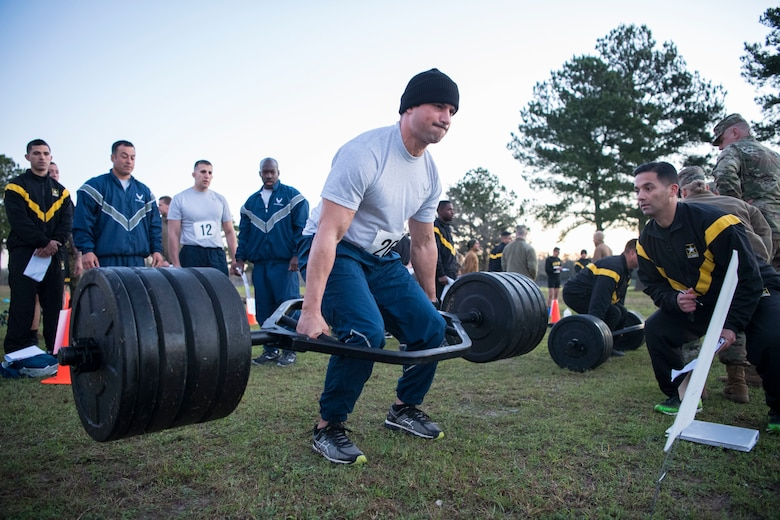 Senior Airman participates in the new Army Combat Fitness Test