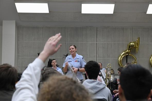 A student raises his hand