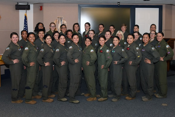 The all-female alert team stands ready to take up positions in the missile field for the fifth year in a row at F. E. Warren Air Force Base, Wyoming, March 12, 2020. These women pay tribute to the females who served before them, prepared to take on the alert alongside their sisters-in-arms. (U.S. Air Force photo by Senior Airman Nicole Reed)