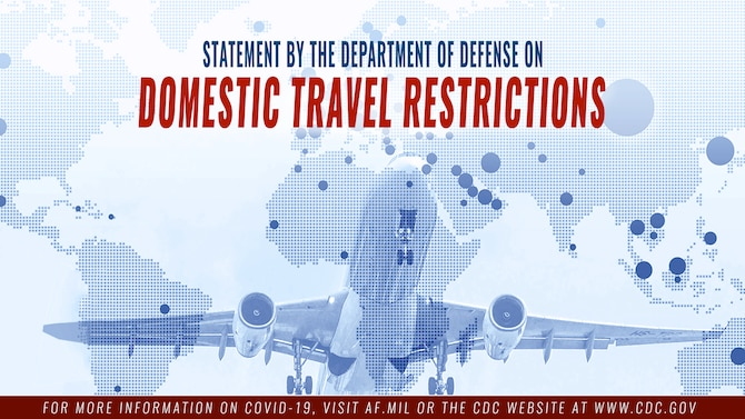 Domestic travel restrictions graphic