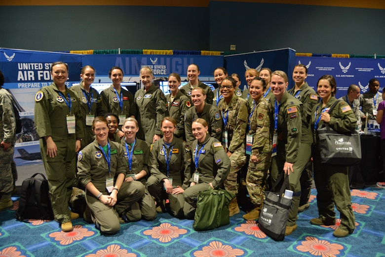 Air Force inspires attendees at Women in Aviation International's 31st conference with multiple speakers and exhibits