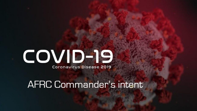 COVID-19 commander's intent graphic