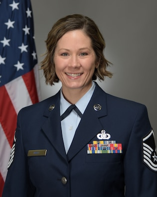 Official Photo of Master Sergeant Brenna Hyatt, trumpeter with the Air Force Band of Mid-America