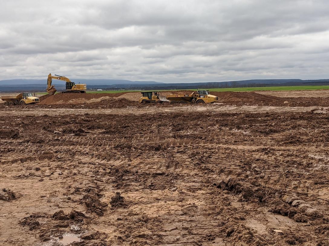 Sand removal near upstream breach