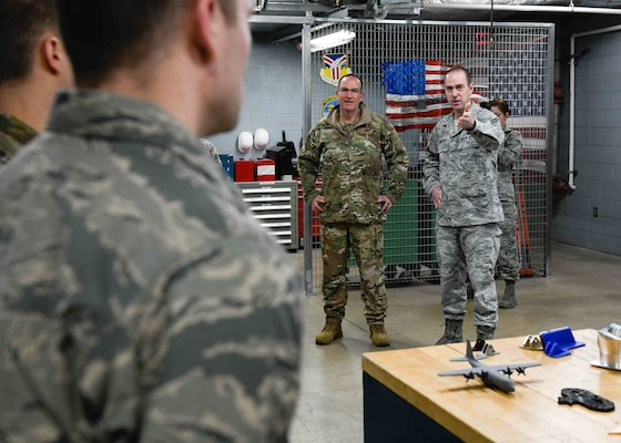 22nd Air Force Commander Maj. Gen. John P. Healy visited the 910th Airlift Wing March 6-8, 2020.