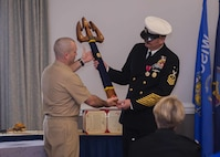 Navy Command Master Chief Christopher L. Hill retired after 32 years of faithful service to the United States Navy.
