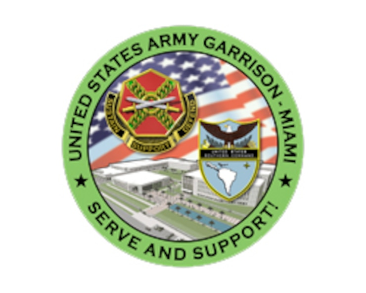U.S. Army Garrison Miami official logo.